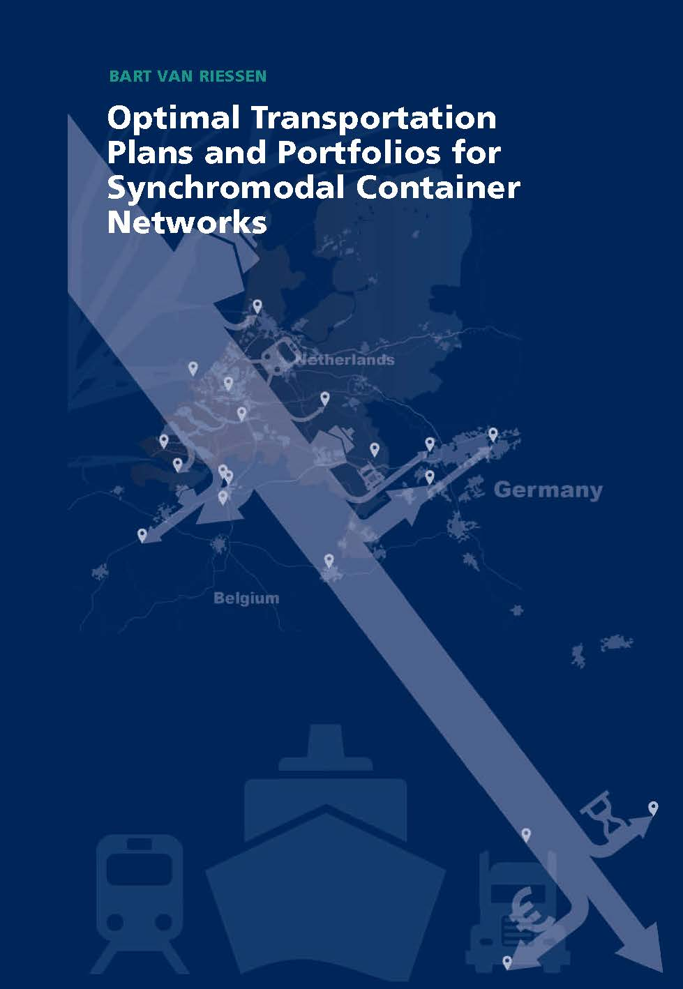 Optimal Transportation Plans and Portfolios for Synchromodal Container Networks