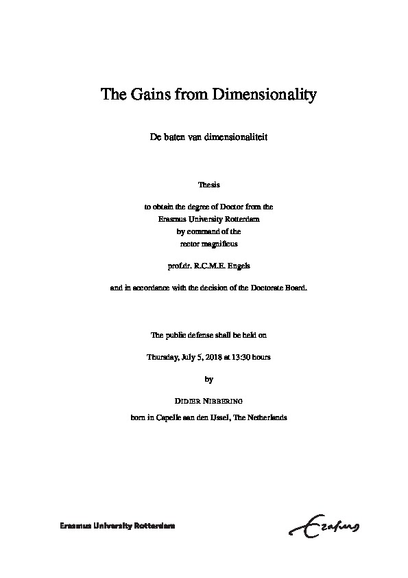The Gains from Dimensionality