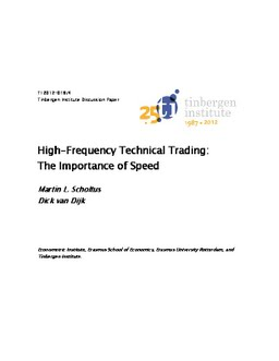 importance of high frequency trading If you would like to download the below summary of how high frequency trading works in pdf format, follow the link  also if the code was so important, why haven .