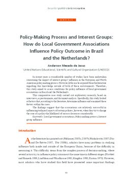 role of interest groups in policy making process