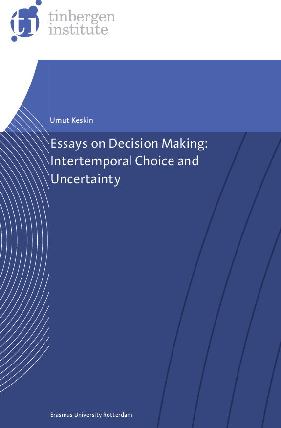 repub erasmus university repository essays on decision making  jpg cover image 53kb